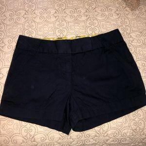 JCREW Black chino shorts